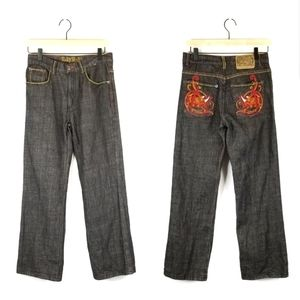 Ecko Unltd. Jrs. Jeans with Dragon Embroidery